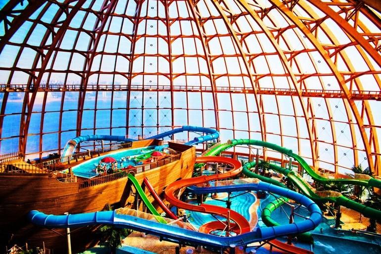 Описание действующих в Санкт-Петербурге аквапарков