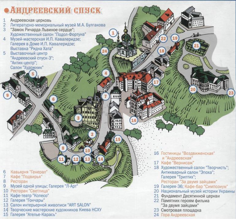 Подол карта