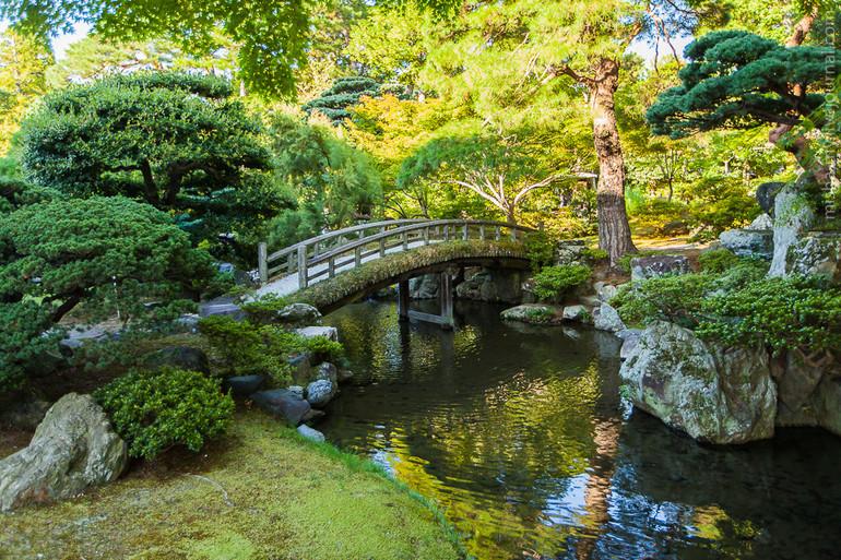 японский садик в ботаническом саду в москве