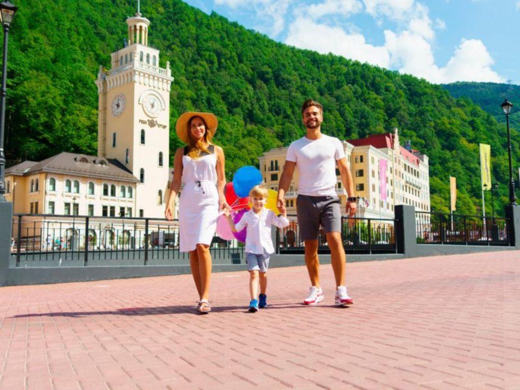 в Красной Поляне с детьми